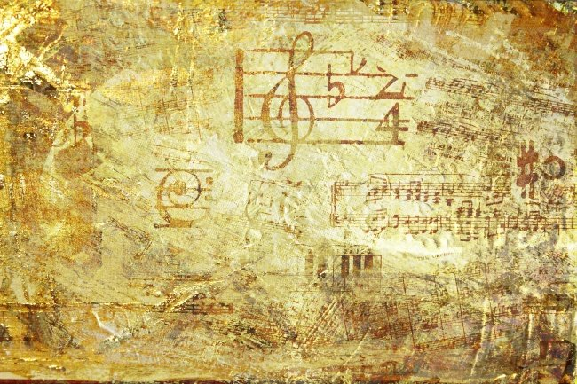 Vintage retro yellow background music breaks music download HD picture 650x433