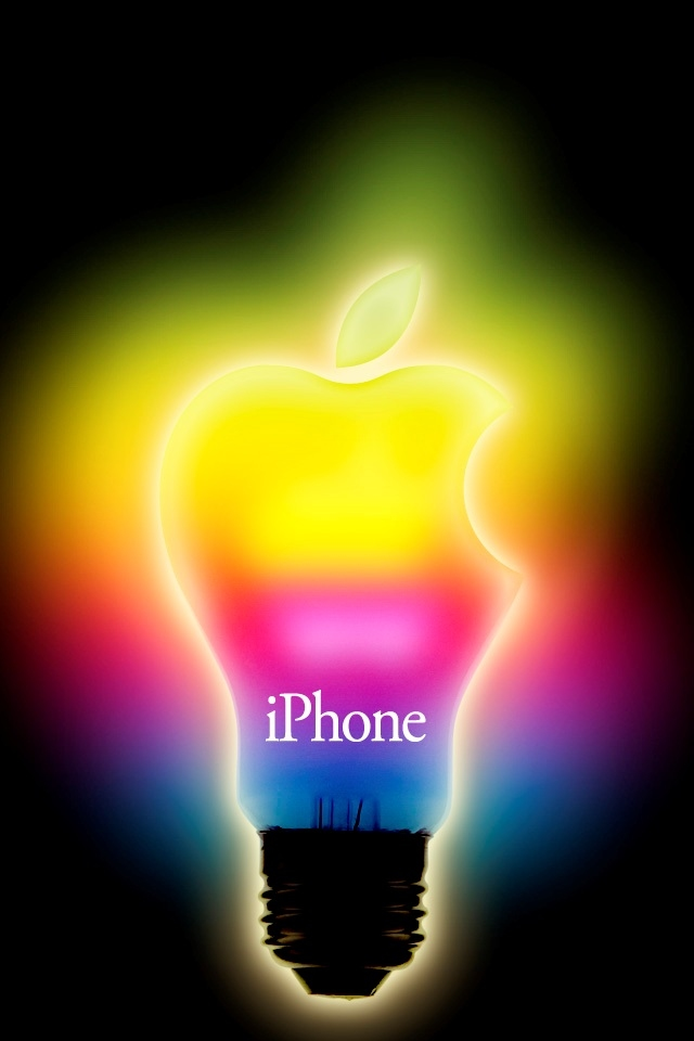 Color Cool Bulb Apple Iphone 4 Wallpapers 640x960 Hd Iphone 4s 640x960