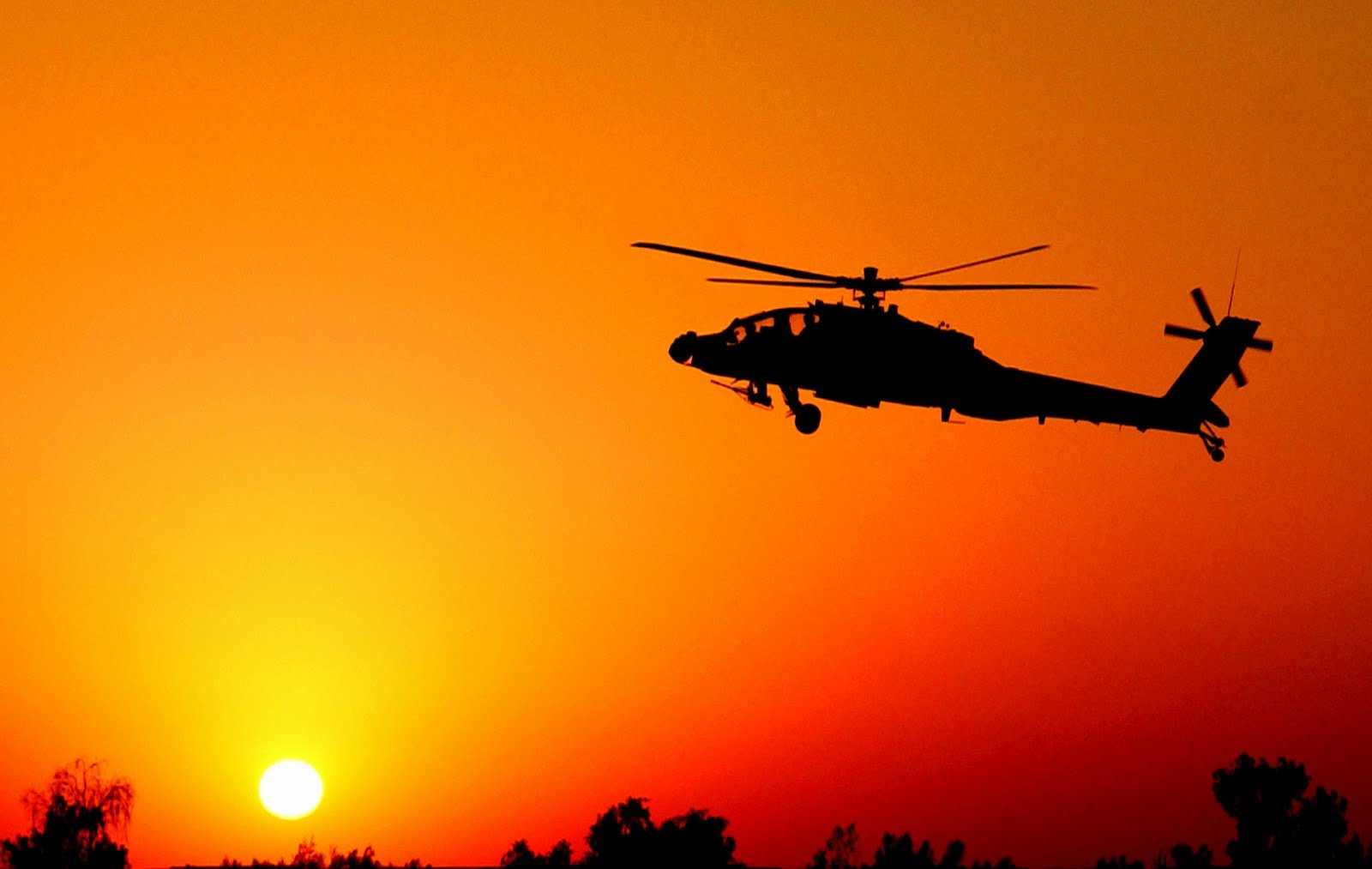 Apache Helicopters Sunset HD Wallpapers Desktop Wallpapers 1600x1013