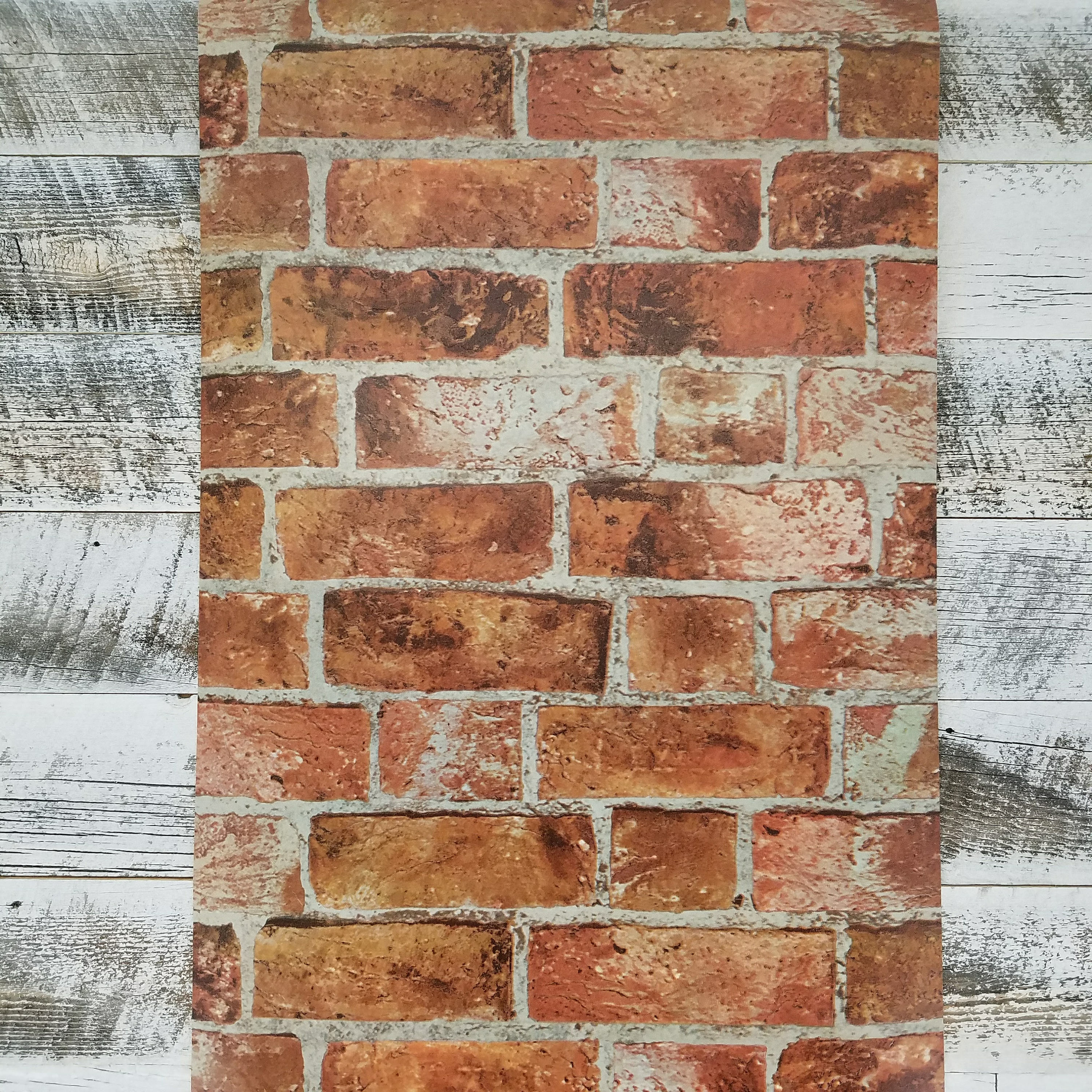 Realistic Embossed Red Industrial Farmhouse Brick Wallpaper Etsy 3000x3000