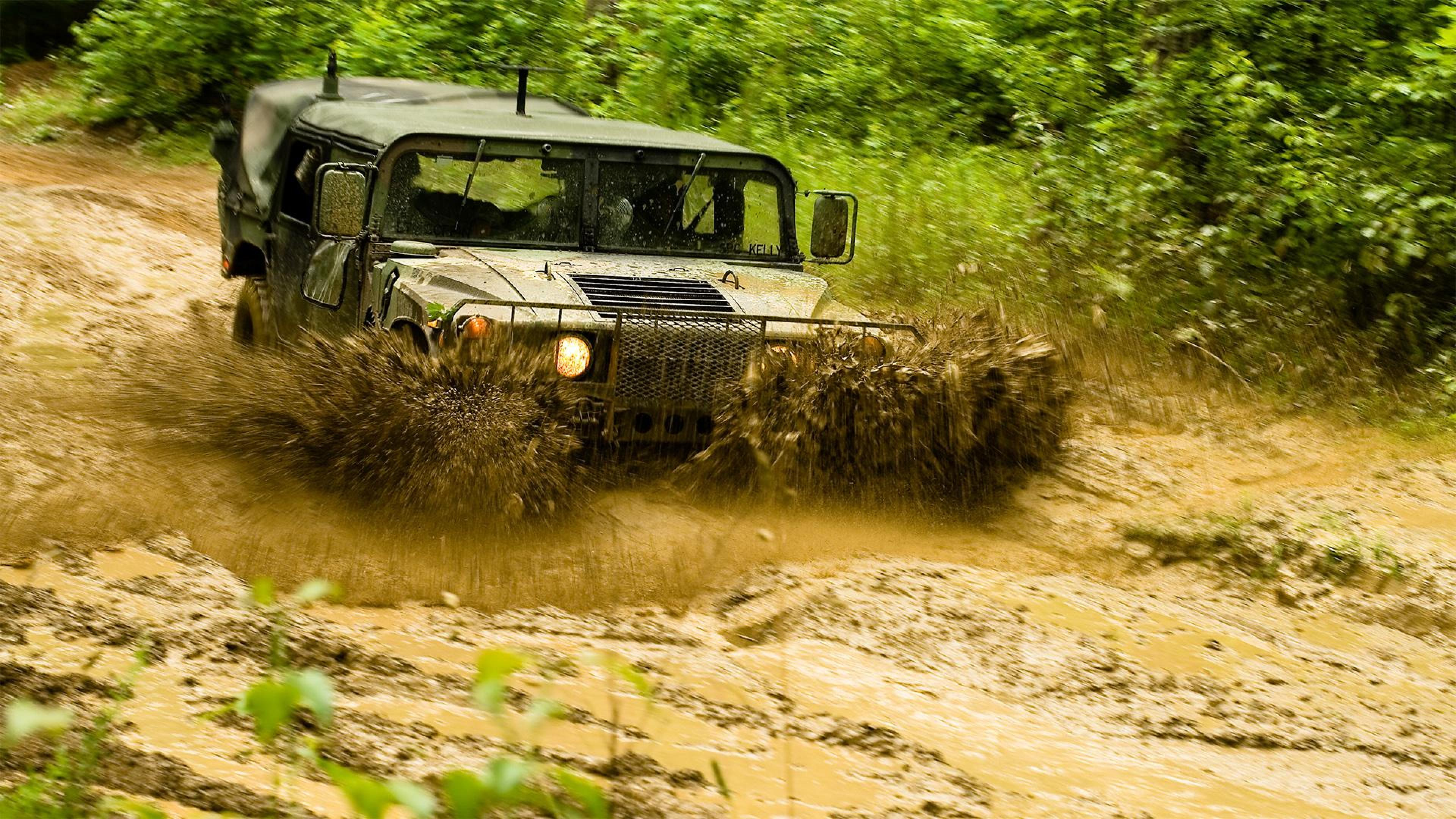 Download Wallpapers and Pictures Hummer mud splashes 3840x2160