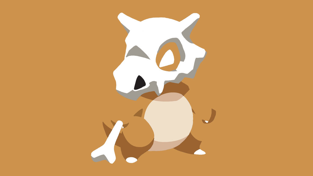 Simple Cubone Wallpaper by oOxCriesInVainxOo 1024x576