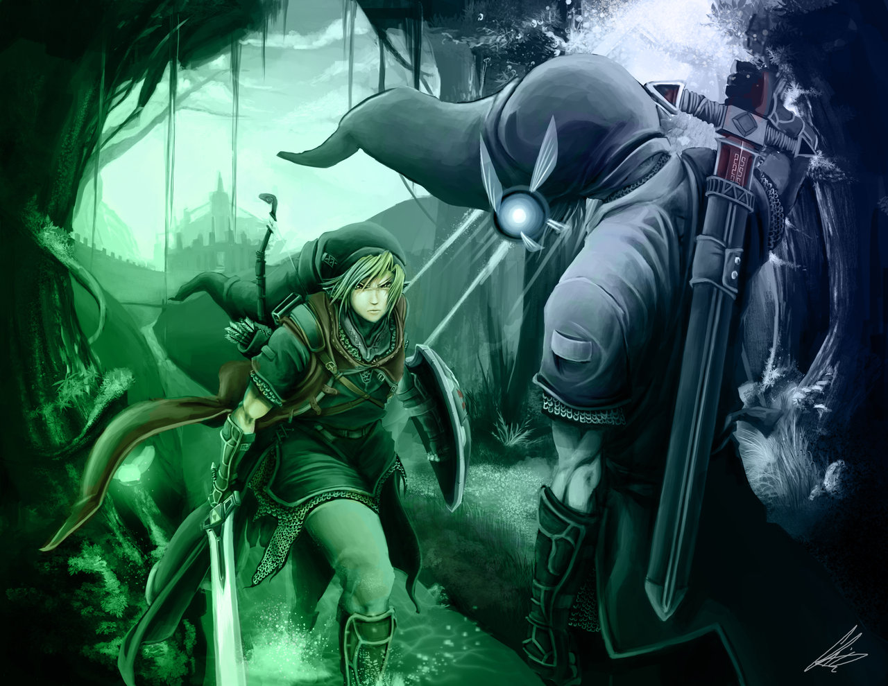 Link vs Dark Link by RazerChris 1280x990
