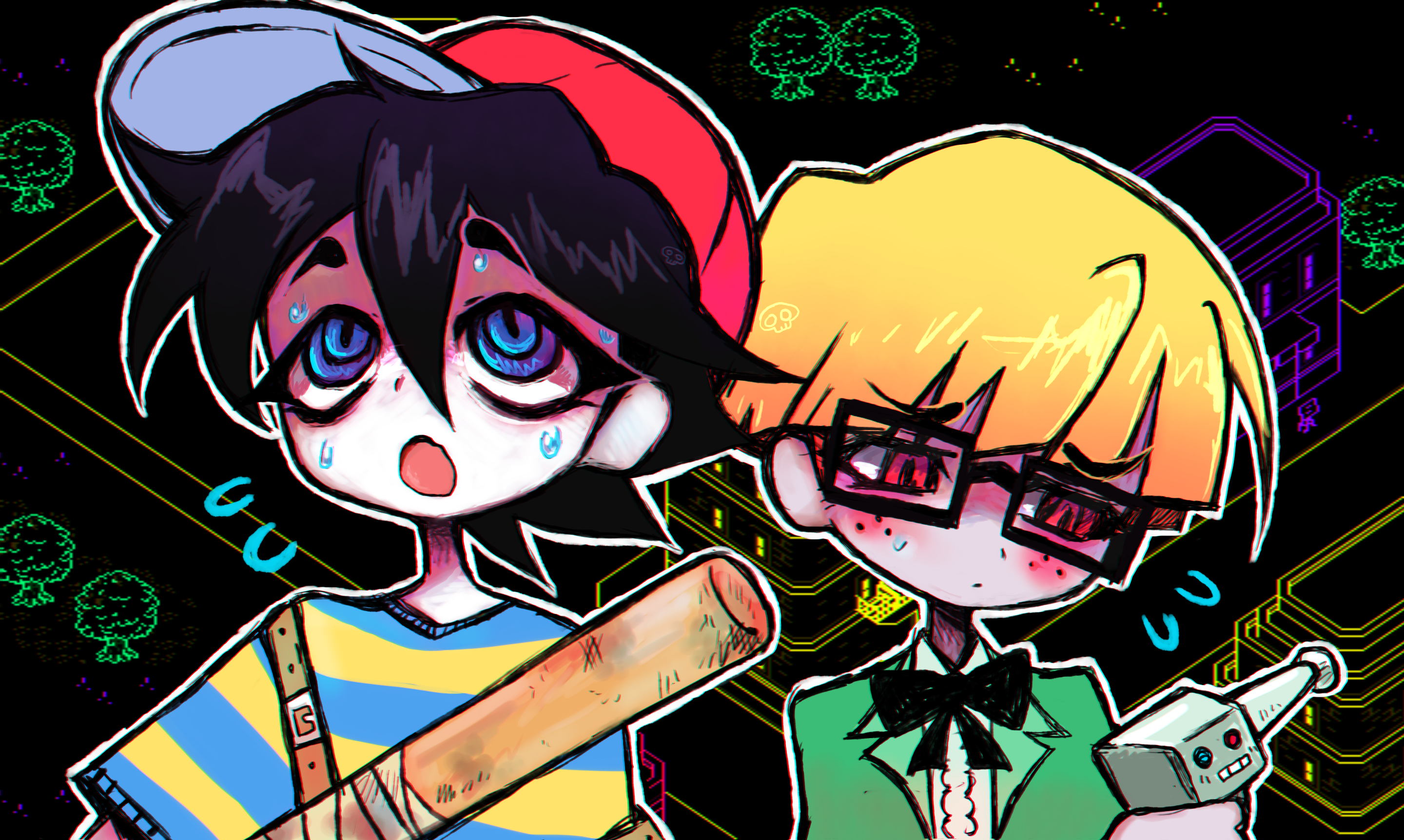 Ness and Jeff Moonside HD Wallpaper Background Image 2880x1724 2880x1724