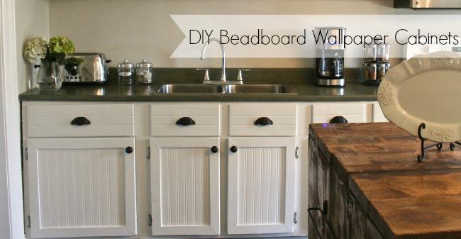 DIY Beadboard Wallpaper Cabinets   Nest of Bliss 650x337