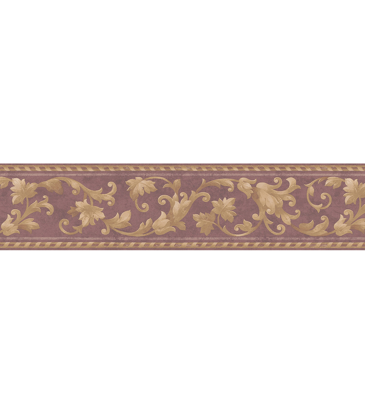 Scroll Wallpaper Border Burgundy SampleRoyal Scroll Wallpaper Border 1200x1360