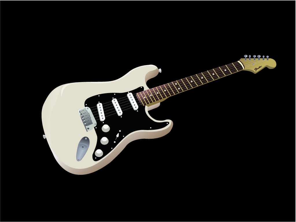 Guitar Drawing Tutorial Fender Stratocaster Wallpaper 1024x768