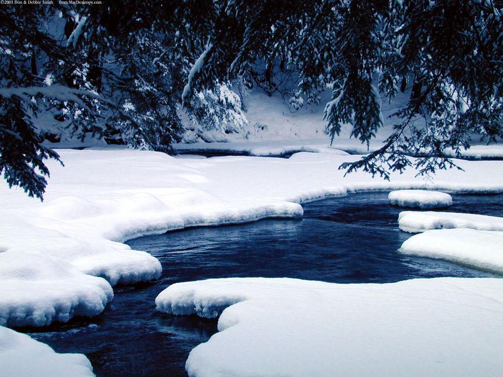 Winter Window Scene Winter Nature Backgrounds River Ice naturejpg 1024x768
