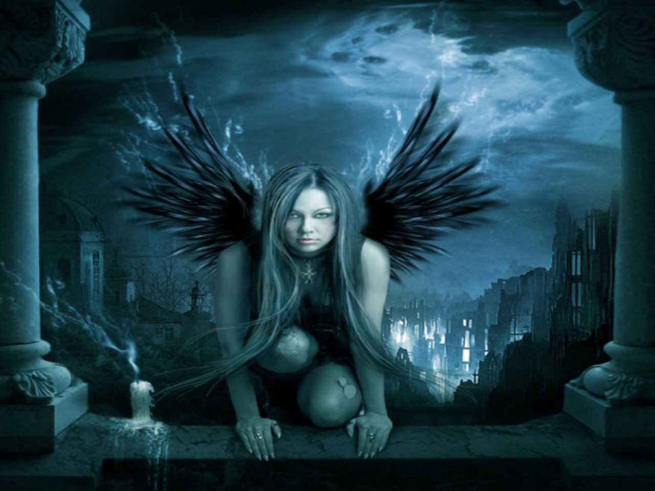 Gothic Angel Wallpaper Background 27342 1280x960