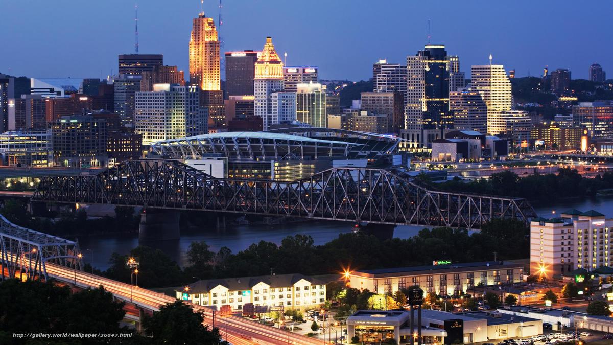 Download wallpaper Cincinnati Kentucky evening desktop 1200x675