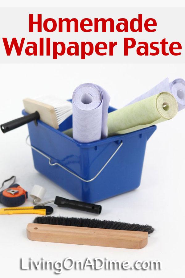 Homemade Wallpaper Paste Recipe 600x901