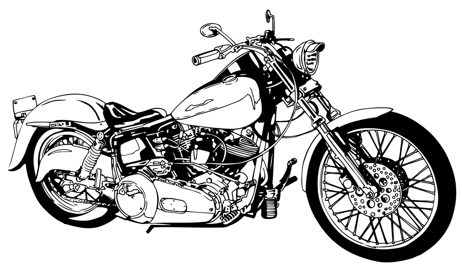 free motorcycle art wallpaper