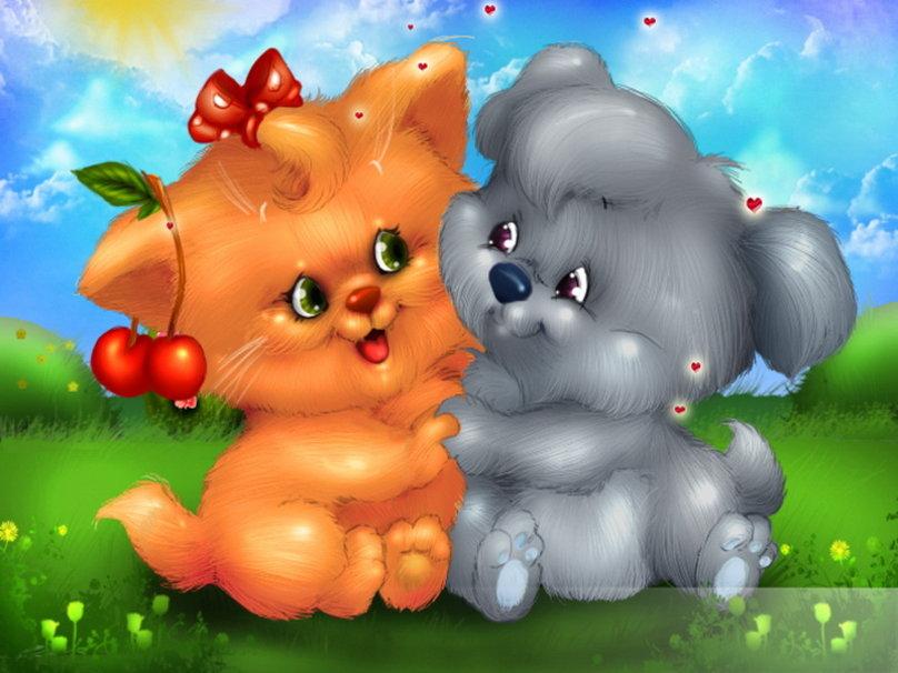 Valentine kittens wallpaper   ForWallpapercom 808x606