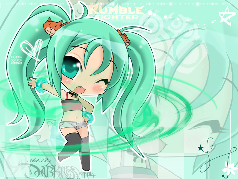 Hi cute chibi wallpaper by Darkness1999th 800x600