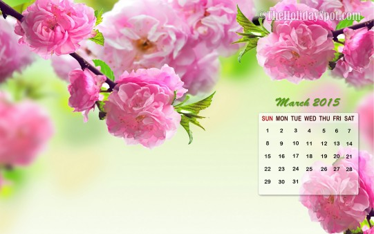 Month wise Calendar Wallpapers March Calendar Wallpaper 2015 541x338