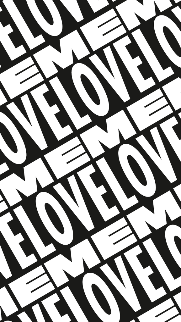 LOVE ME   iPhone Love Me Type Sticker Tile Background 577x1024