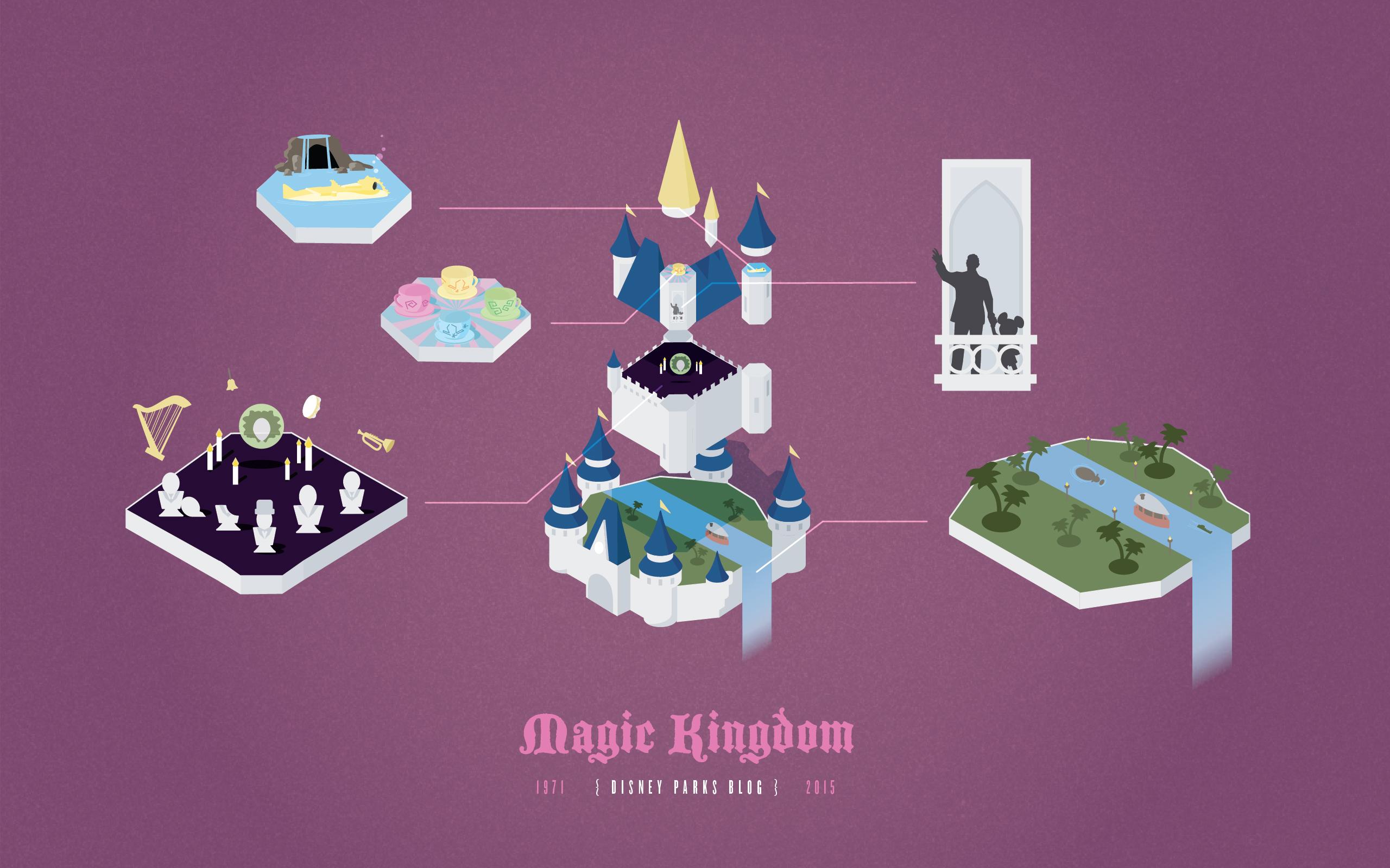 Magic Kingdom Parks Anniversary 2560x1600
