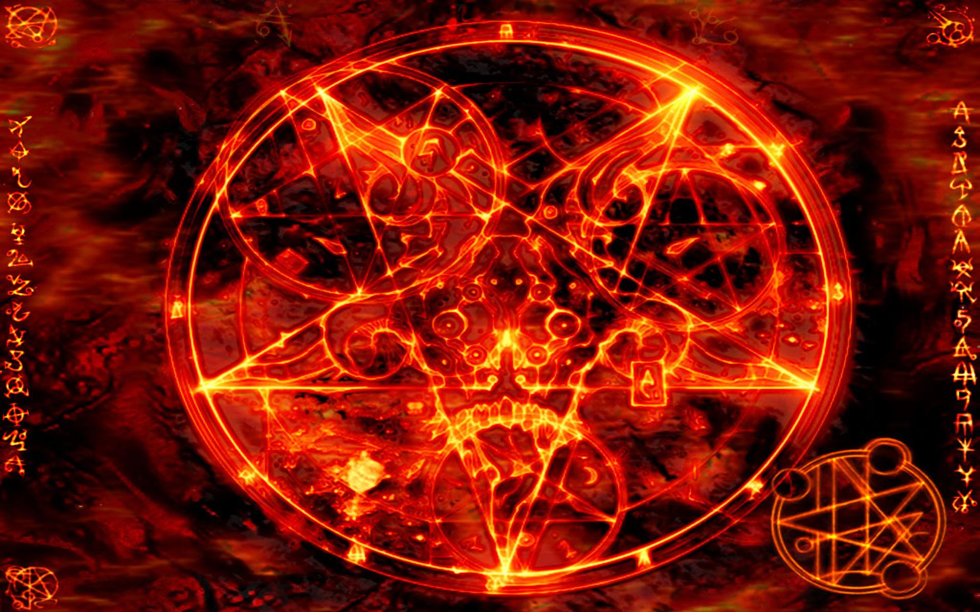 Pentagram satanic wallpaper 1920x1200 15829 WallpaperUP 1920x1200
