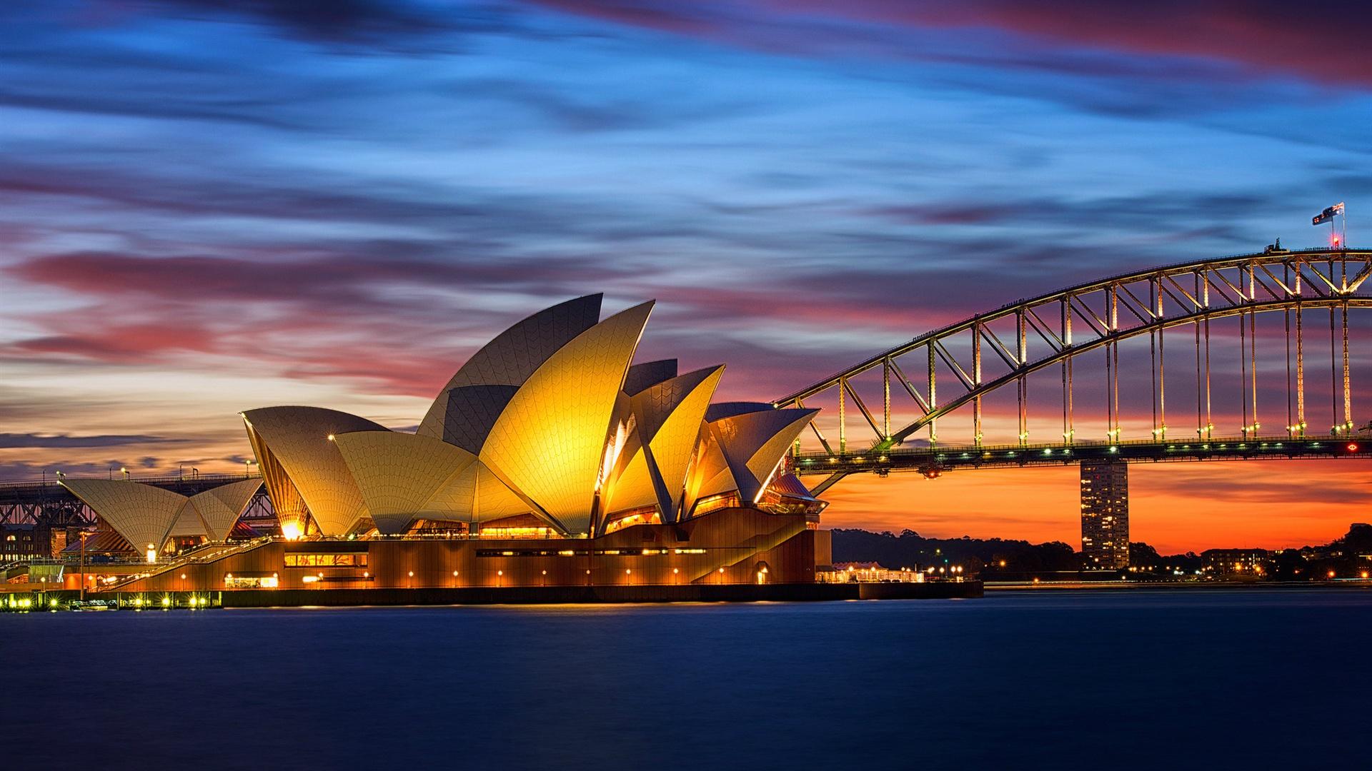 httpjabest wallpapernetAustralia Sydney Opera House bridge 1920x1080