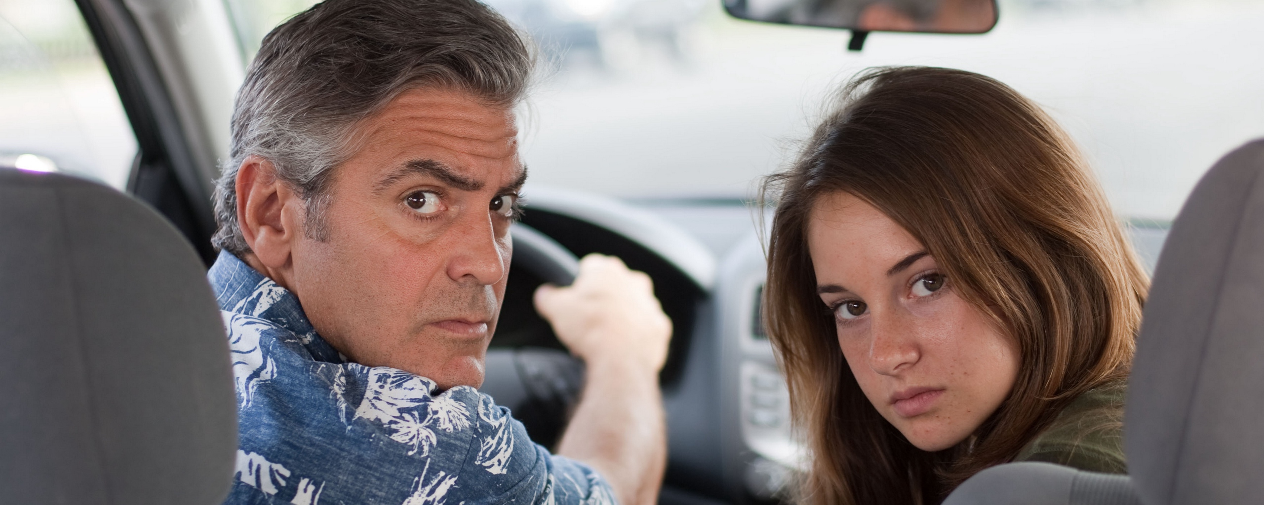 Download wallpaper 2560x1024 the descendants george clooney 2560x1024