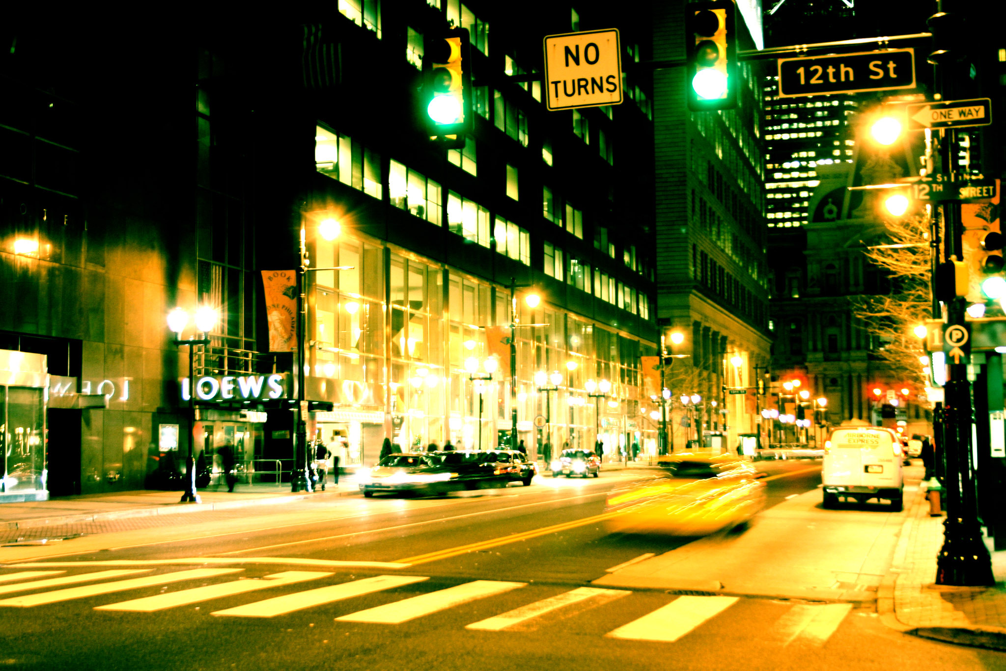 Big city night street wallpaper   ForWallpapercom 2048x1365