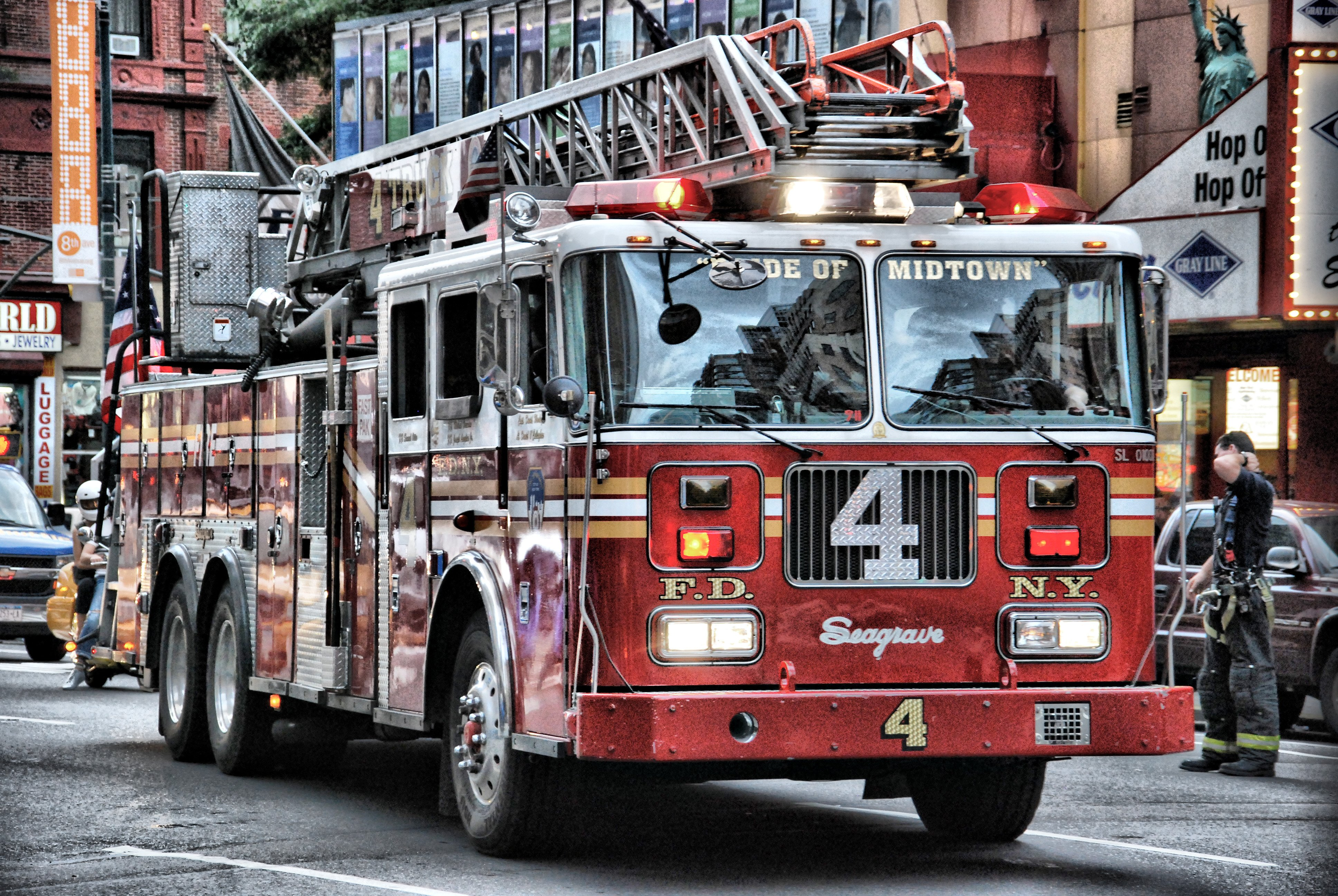 Seagrave Fire Truck Truck Fire Truck Fire Engine Fireman HDR Wallpaper 3872x2592
