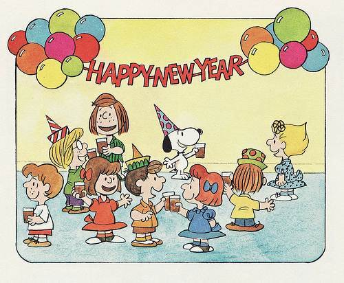 peanuts happy new year wallpapers peanuts new year wallpapers 500x412