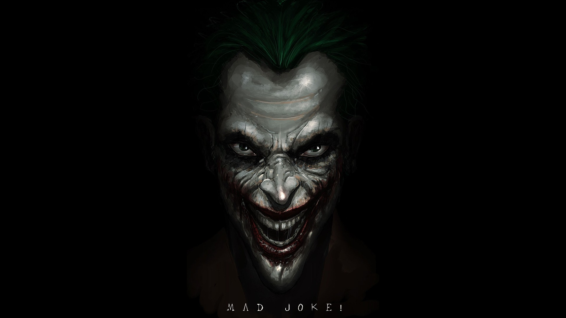 DC Comics The Joker fan art black background Wallpapers 1920x1080