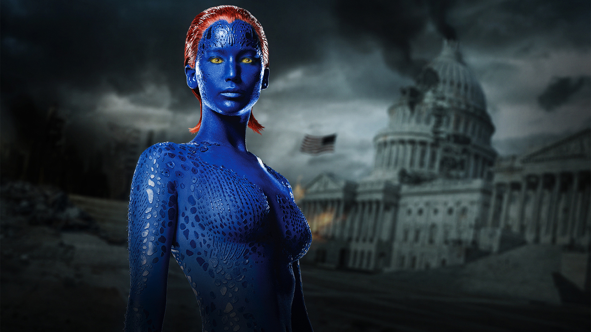 jennifer lawrence as mystique raven in x men days of future past 1920x1080