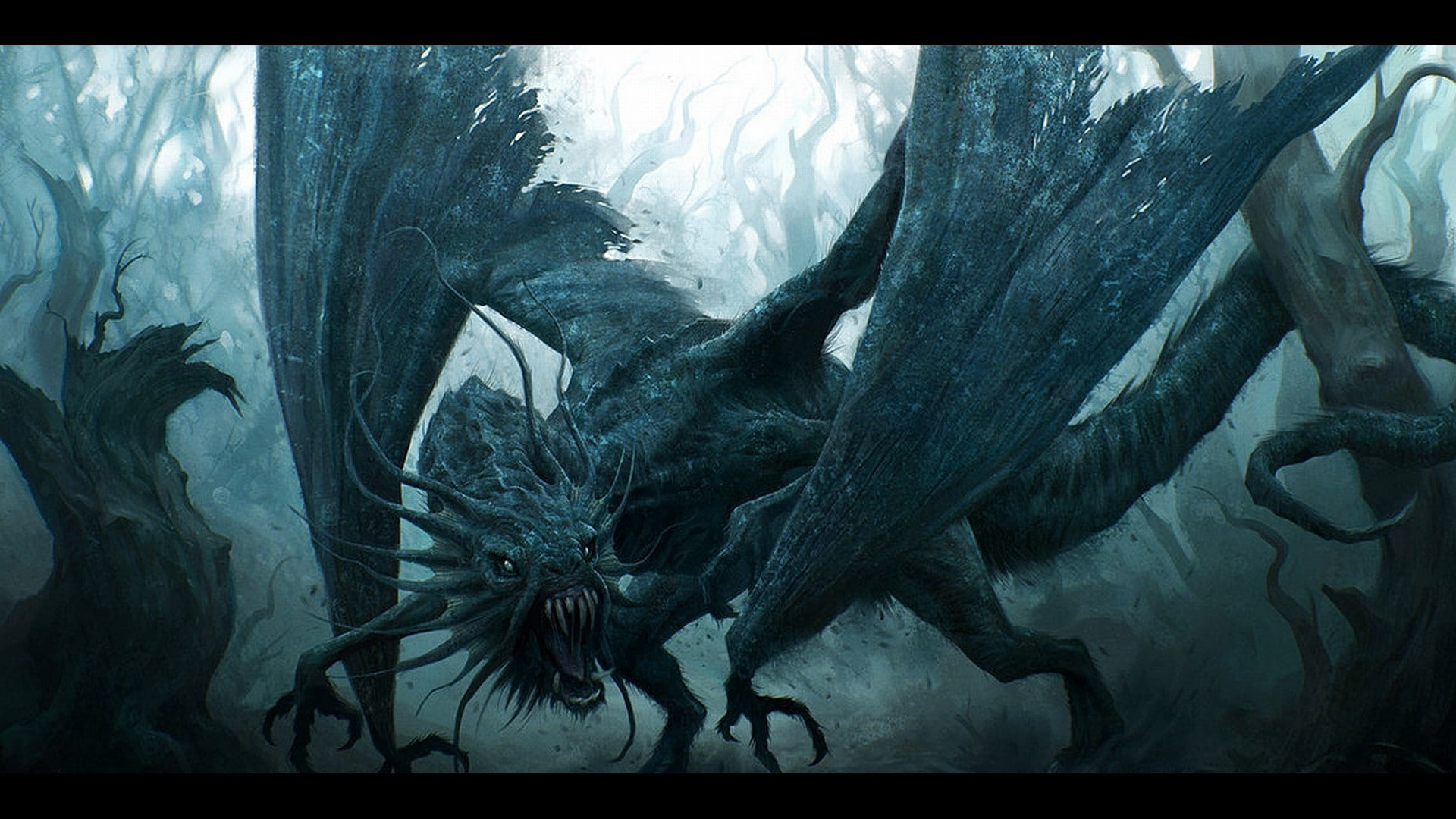 HD wallpaper digital art dragon fantasy Art Jabberwocky 1920x1080