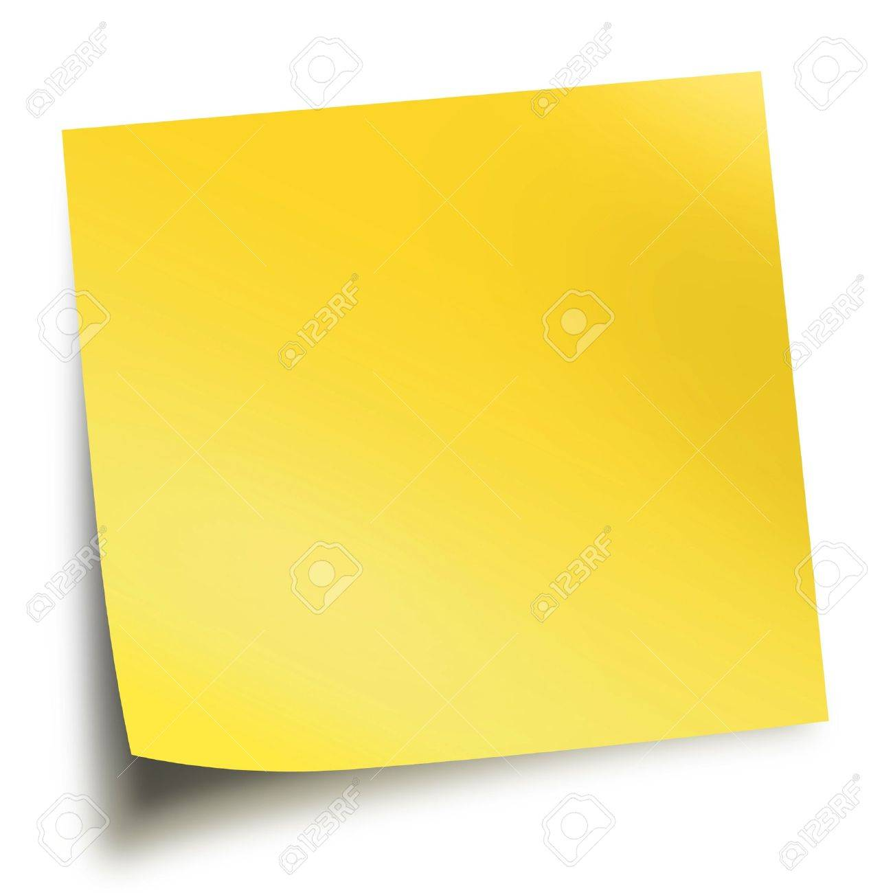 Yellow Memo Stick Isolated On White Background With Soft Shadow 1300x1300
