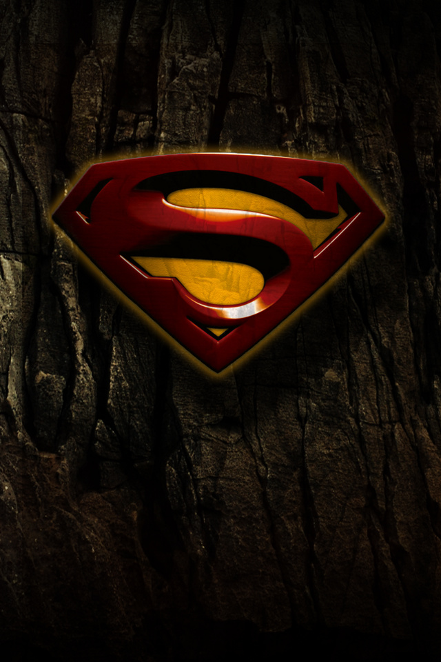 iPhone background Superman Hd from category logos wallpapers for 640x960