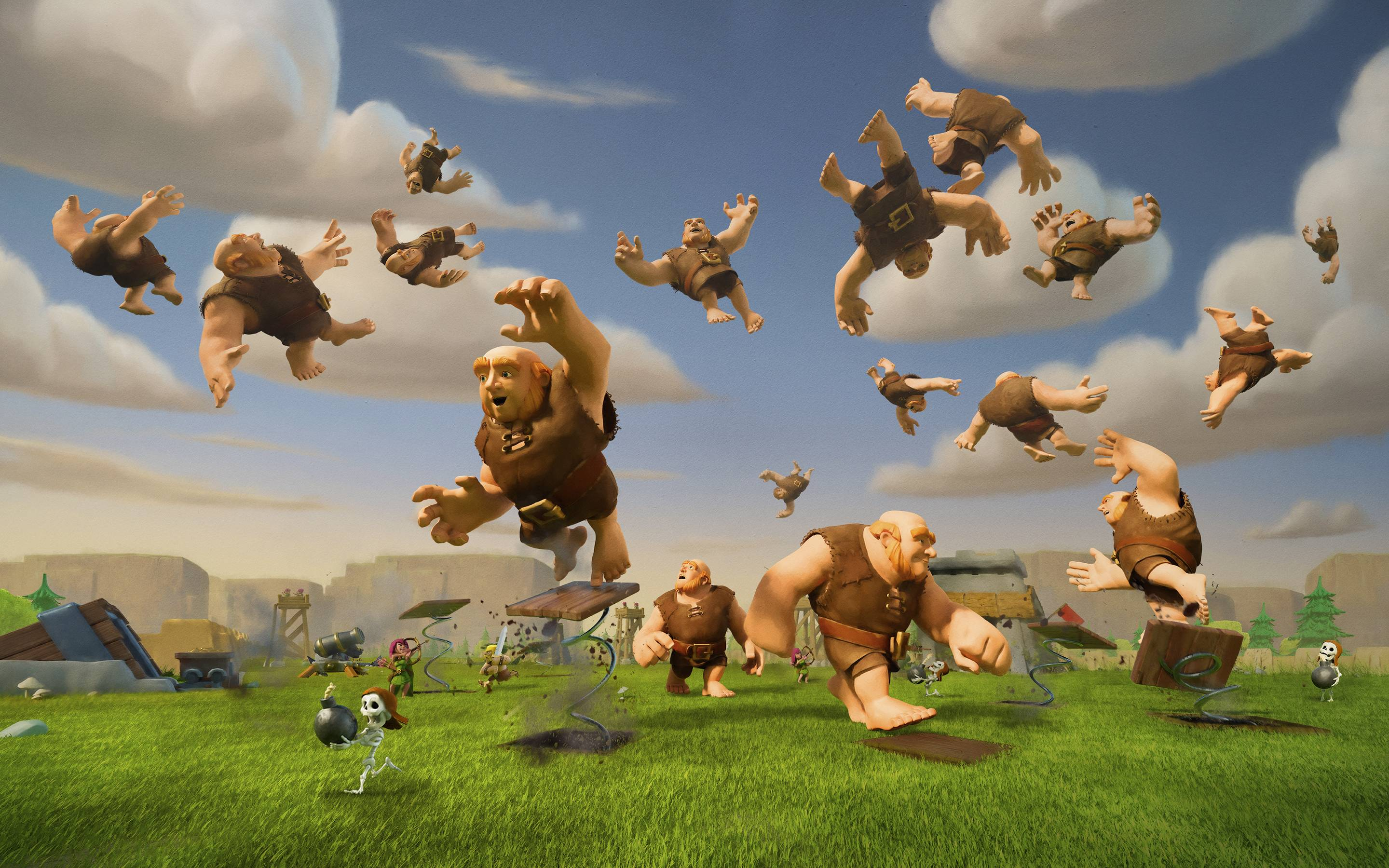 Clash of Clans Giants Wallpaper 58489 2880x1800 px 2880x1800