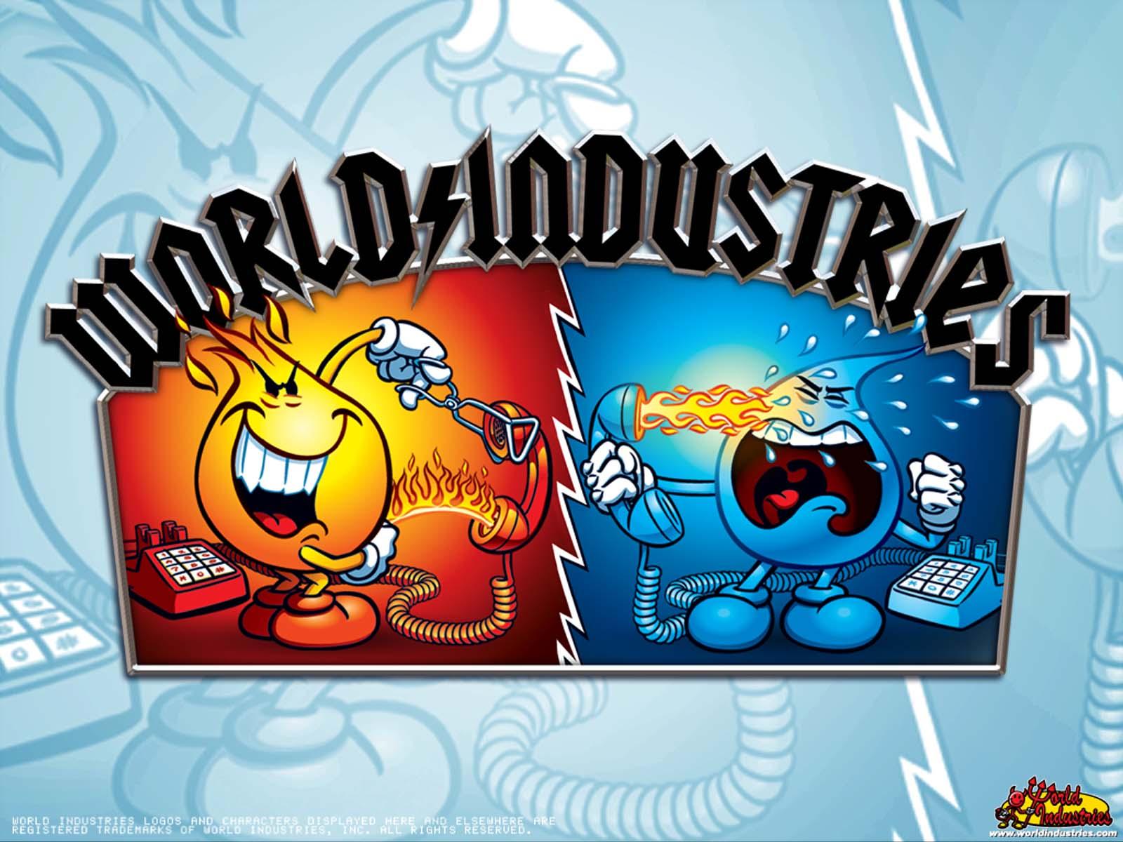 Pin World Industries Skateboard Logo 1600x1200