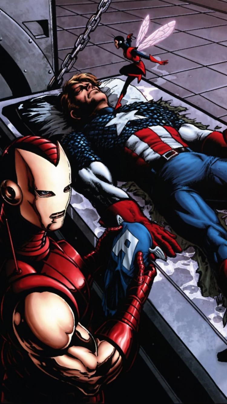 Marvel Thor Captain america Iron man Wallpaper Background iPhone 6 750x1334