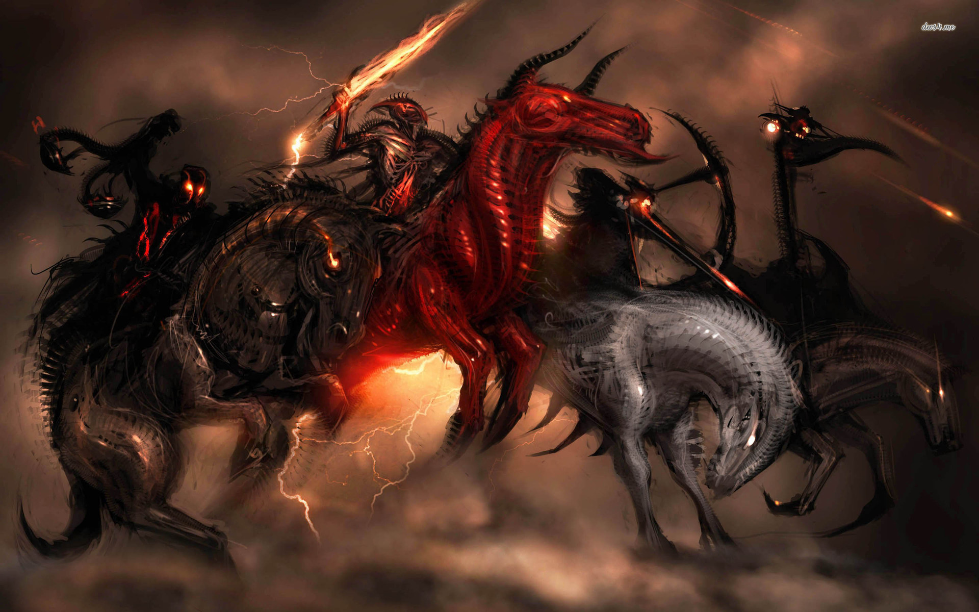 Four Horsemen of the Apocalypse wallpaper   Fantasy wallpapers 1920x1200