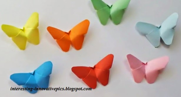 Free Download Diy Paper Butterfly Decoration Crafts For Kids