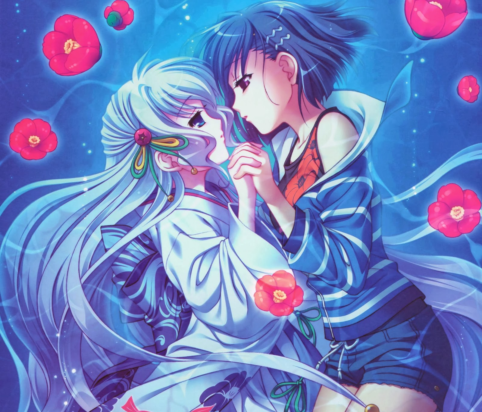 Pin by Just Weekends on draw & anime   Yuri anime girls