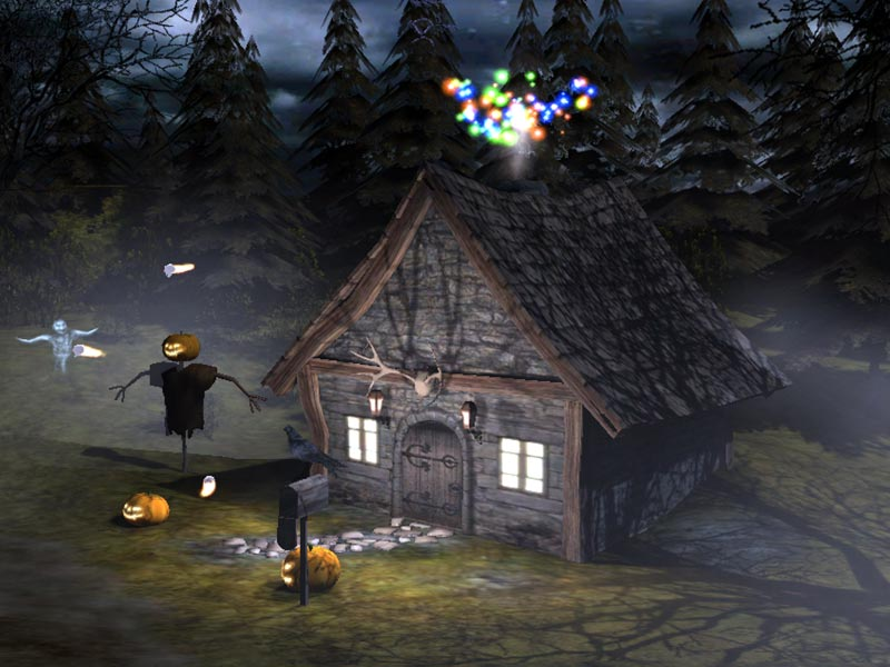 3D Spooky Halloween are you brave enough to trick or treat around 800x600