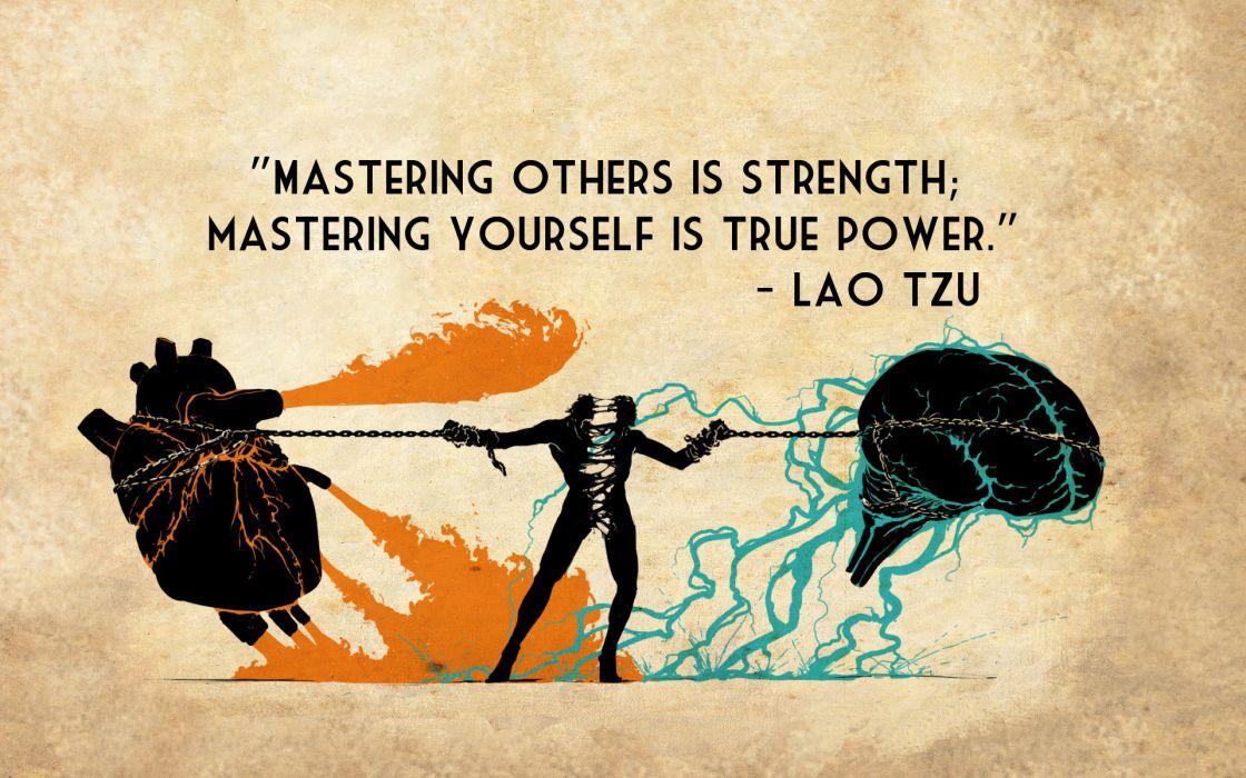 Mastering Strength True Power Lao Tzu quotes texts brain heart 1120x700