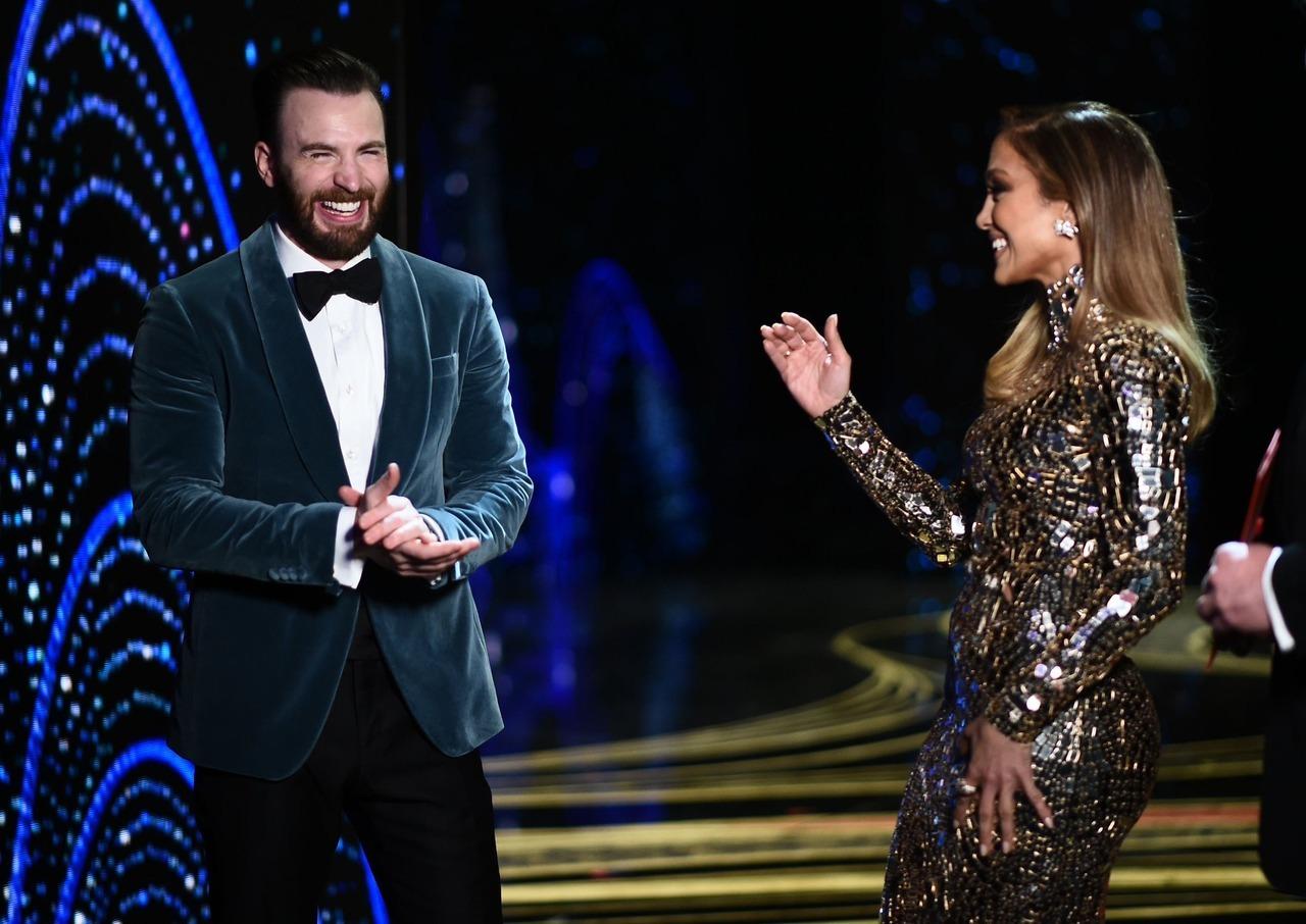 Chris Evans images Chris Evans and Jennifer Lopez onstage during 1280x906