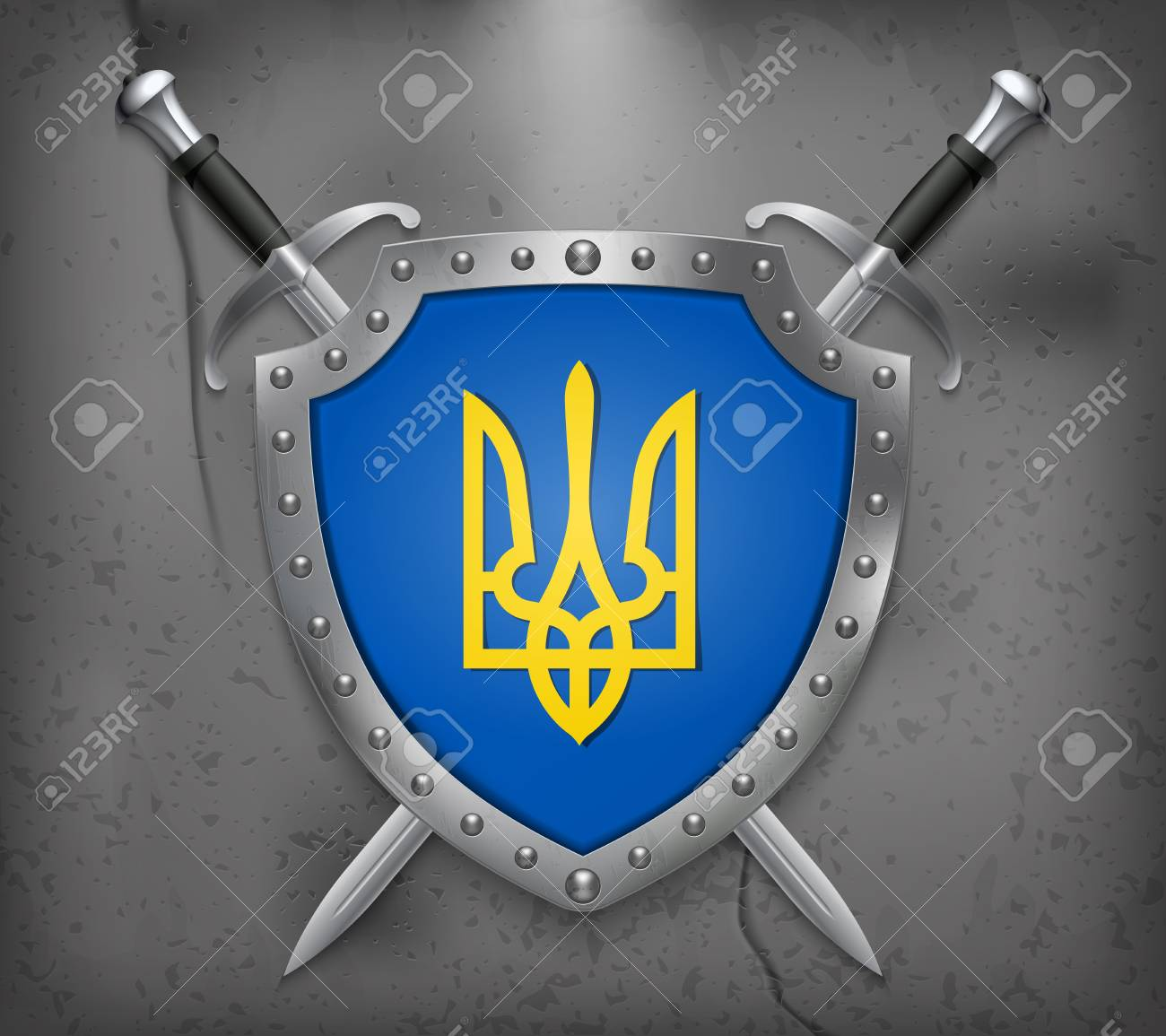 Tryzub Trident National Symbols Of Ukraine The Shield With 1300x1155