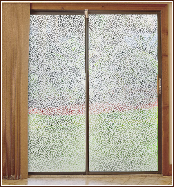 Glass Clear Film Pebble Etched Glass See Through Window Film 600x643