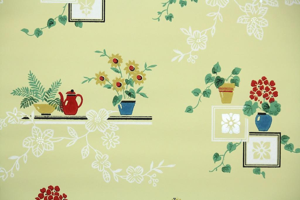 Home 1940s 1950s Kitchen 1950s Kitchen Vintage Wallpaper 1024x683