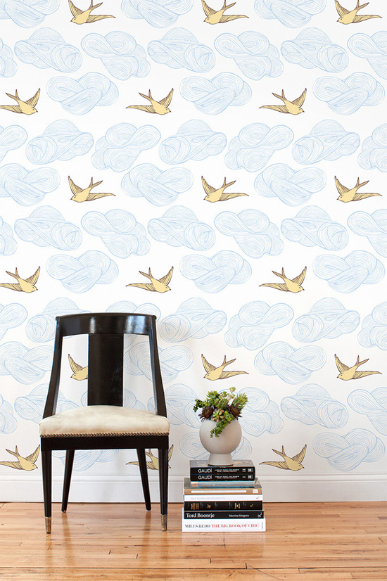Tip for decorating a rental removable wallpaper 550x826