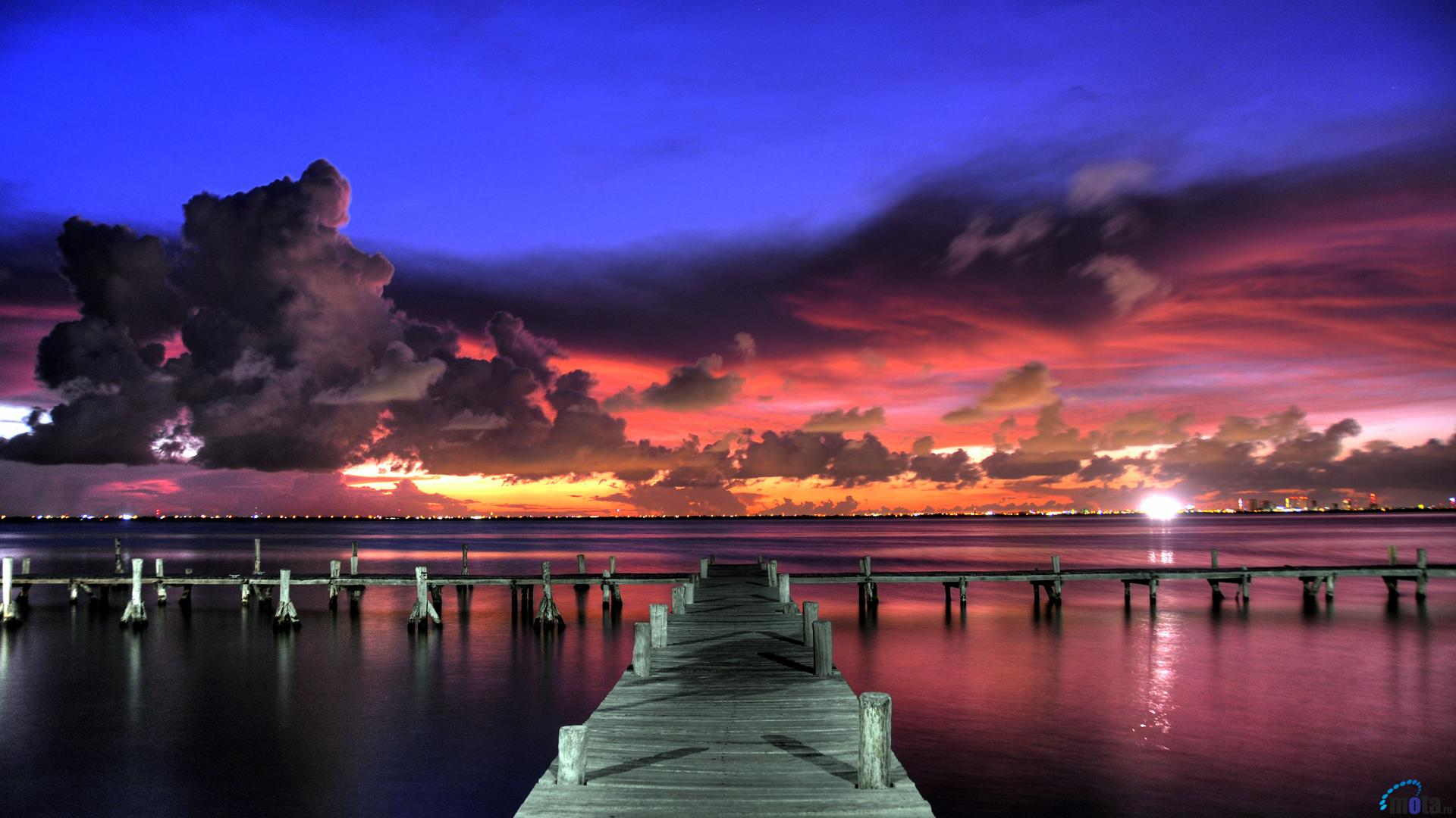 wallpaper bright tropical sunset 1920 x 1080 hdtv 1080p desktop