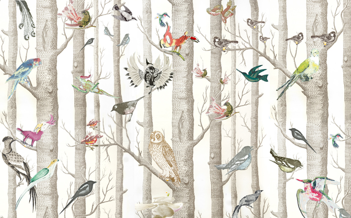 The Style PA at Home DECORATING   Its a Birdy Wallpaper 700x436