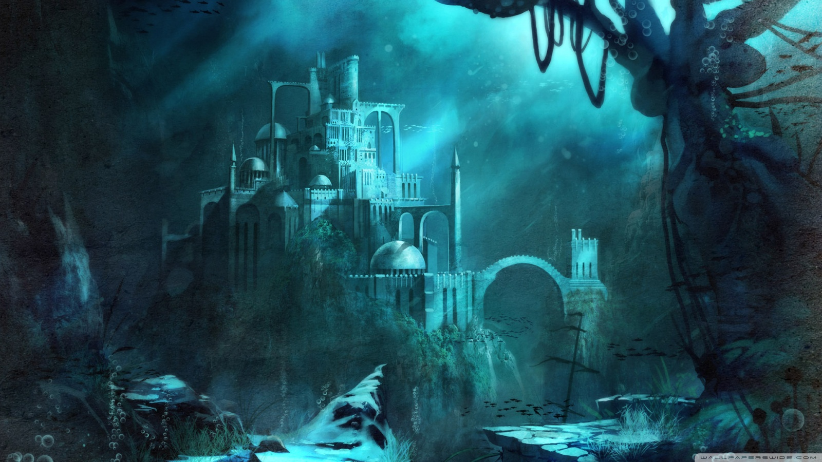 Trine 2 Underwater Castle 4K HD Desktop Wallpaper for 4K Ultra 1600x900