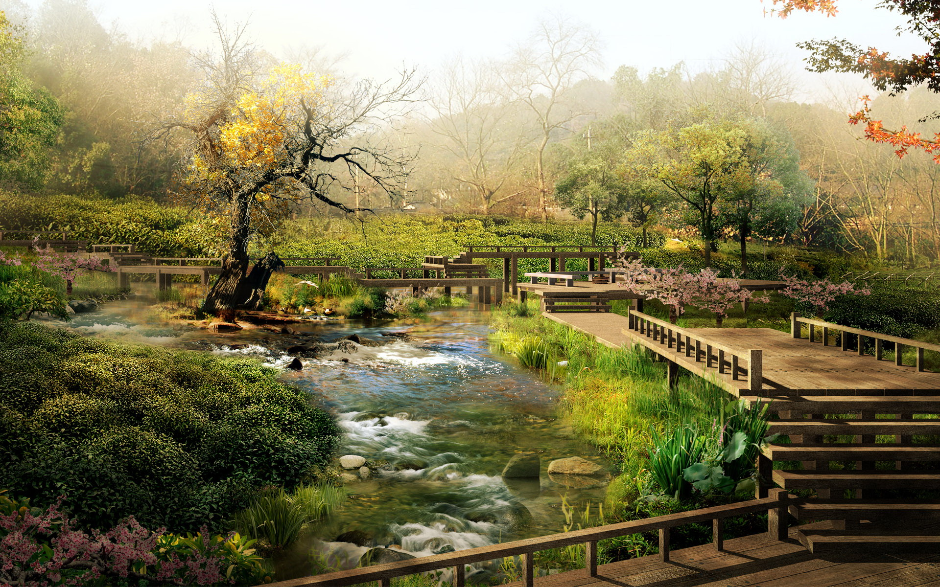 wallpaper landscape chinese art wallpapers 1920x1200 1920x1200