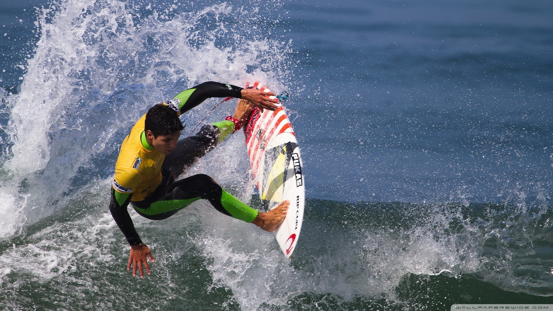 Surfer Riding The Wawe 1920x1080 HD Wallpaper Sport Surfing Water 1920x1080
